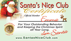 Santa Letter and Nice Club Card Certificate